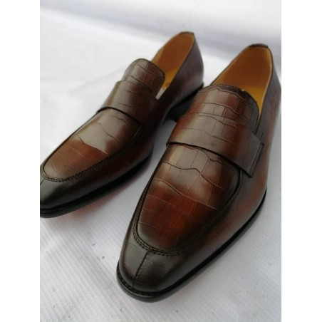 John Foster brown leather shoe