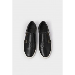 Black Double Monk Strap...