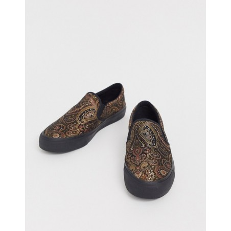 Plimsolls Sneakers in metallic jacquard