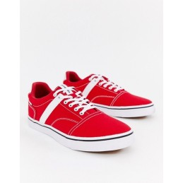 J ack & J ones red canvas