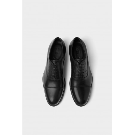 ZARA SMART LEATHER SHOES - black