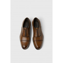 SMART LEATHER SHOES - BROWN