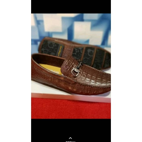Croc Skin brown loafers