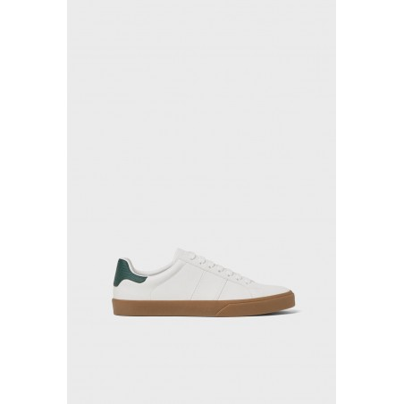 White lace-up Plimsolls sneakers