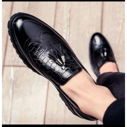 Pr a d a loafers - black