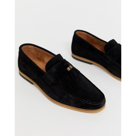 River Island suede tassel loafers