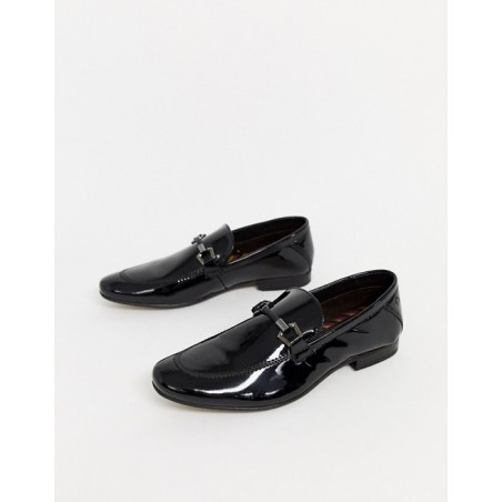 Base London wetlook loafers
