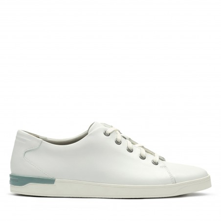 Clarks white leather lace up