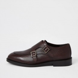 River Island Double monk strap