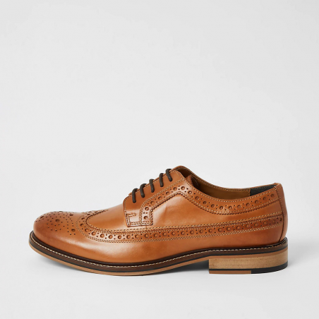 River Island Brown leather derby brogues