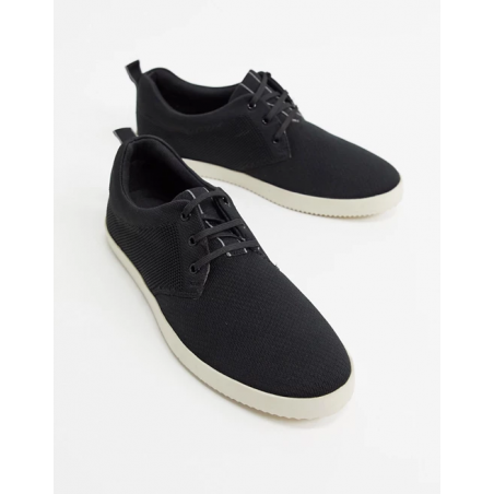 Dune trainer in black knit