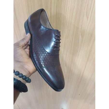 Anax brown lace-up shoe