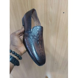 Anax croc skin loafers