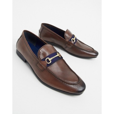 Silver Street brown leather loafers