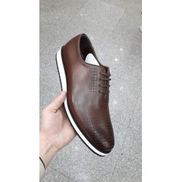 casual brown leather shoe