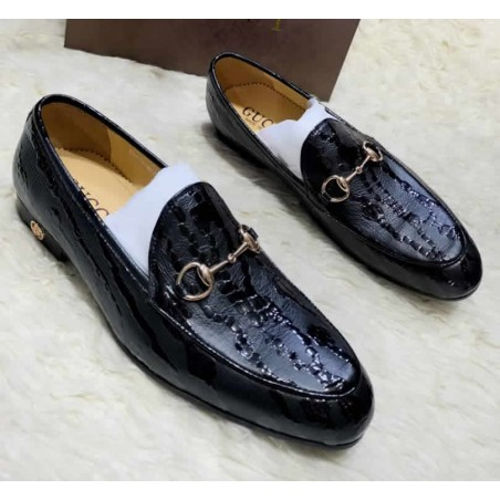 Glossy design loafers